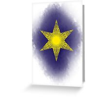 tarot card of the star Greeting Card
