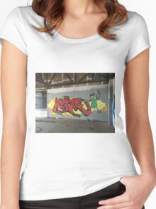 Selfie Red Graffiti in Funky Town Women's Fitted Scoop T-Shirt