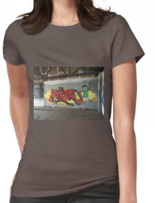 Selfie Red Graffiti in Funky Town Womens Fitted T-Shirt