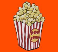 Cartoon Popcorn Bag Kids Tee