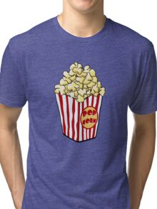 Cartoon Popcorn Bag Tri-blend T-Shirt