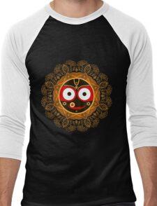 Jagannath. Indian God of the Universe. Lord Jagannatha. Men's Baseball ¾ T-Shirt