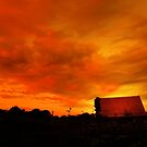 SUNSET OVER THE LITTLE RED HOUSE by leonie7