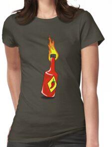 Cartoon Hot Sauce Womens Fitted T-Shirt