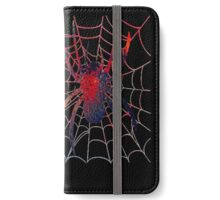 Red Spider on Web iPhone Wallet/Case/Skin