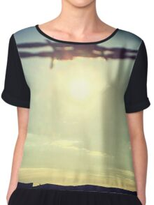 Barbed wire sunset Chiffon Top