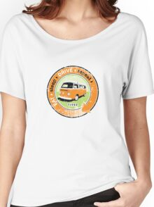 Eat Sleep Drive Repeat orange green grunge Women's Relaxed Fit T-Shirt