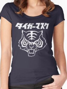 CLASSIC TIGER MASK JAPANESE MANGA JAPAN PRO WRESTLING  Women's Fitted Scoop T-Shirt