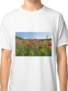 Zinnias for Mt. Fuji Classic T-Shirt