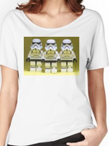 Lego Storm Troopers on Yellow Women's Relaxed Fit T-Shirt