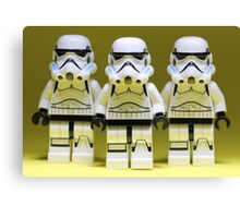 Lego Storm Troopers on Yellow Canvas Print