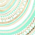Mint + Gold Tribal by Tangerine-Tane