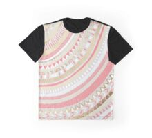 Coral + Gold Tribal Graphic T-Shirt