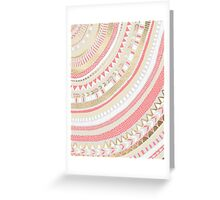 Coral + Gold Tribal Greeting Card