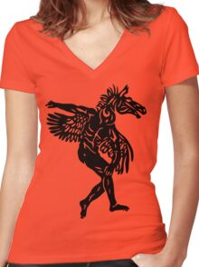 Equus-Man Women's Fitted V-Neck T-Shirt
