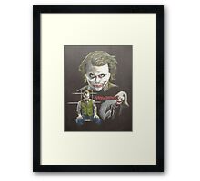 """""""Why so serious?"""" Framed Print"""