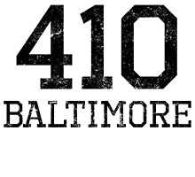 Distressed Baltimore 410 Area Code by kwg2200