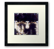 Oil painting. Framed Print