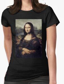 Mona Lisa by Leonardo Da Vinci Womens Fitted T-Shirt