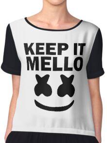 Keep It Mello Chiffon Top