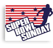 Super Bowl Sunday Canvas Print