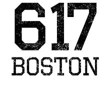Distressed Boston 617 Area Code by kwg2200