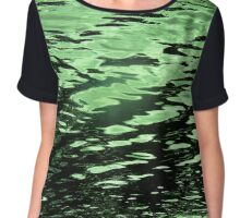 Emerald Tide Chiffon Top