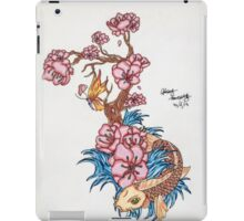 Koi fish with  blossom  iPad Case/Skin