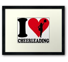 I love cheerleading Framed Print