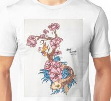 Koi fish with  blossom  Unisex T-Shirt
