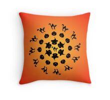 Halloweeen circle Throw Pillow