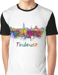 Toulouse skyline in watercolor Graphic T-Shirt