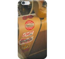 Rear seat stickers iPhone Case/Skin