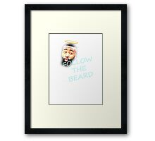 Follow The Beard - Harden - Basketball - Funny Framed Print