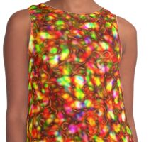 A Psychedelic design Contrast Tank
