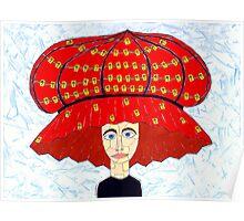 20th Century English Boudoir Hat Poster