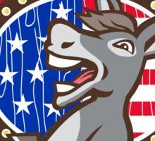 Vote Election 2016 Democrat Donkey Mascot Cartoon Sticker