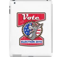 Vote Election 2016 Democrat Donkey Mascot Cartoon iPad Case/Skin