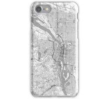 Portland City Map Line iPhone Case/Skin