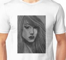 Charcoal Portrait Unisex T-Shirt