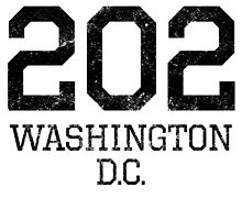 Distressed Washington DC 202 Area Code by kwg2200