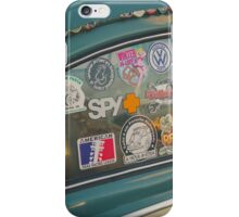 Rear window stickers iPhone Case/Skin