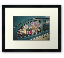 Rear window stickers Framed Print