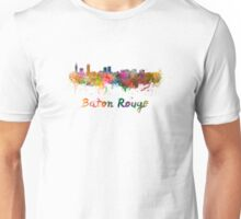 Baton Rouge skyline in watercolor Unisex T-Shirt