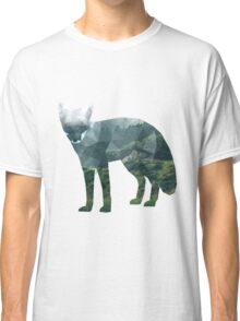 Low Poly Fox, Forest Classic T-Shirt