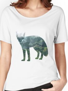 Low Poly Fox, Forest Women's Relaxed Fit T-Shirt