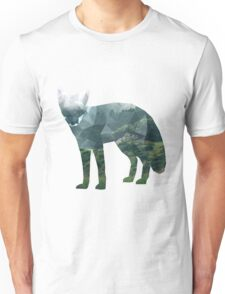 Low Poly Fox, Forest Unisex T-Shirt