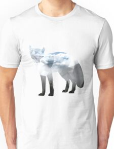 Low Poly Fox, Misty Forest Unisex T-Shirt