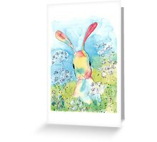 Cow Parsley Bunny Greeting Card