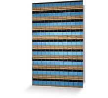 Urban Abstract: Blue and Gold Greeting Card